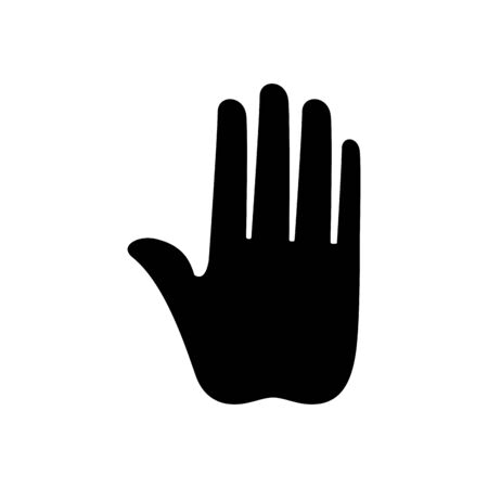 silhouette of hand stop isolated icon vector illustration design