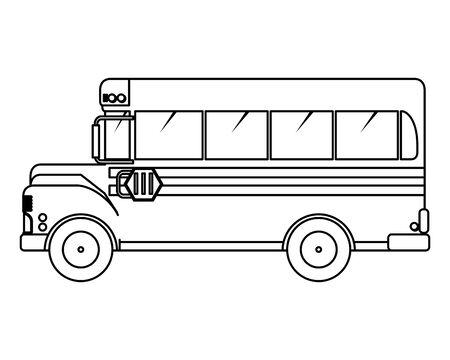 school bus transport isolated icon vector illustration design Illustration