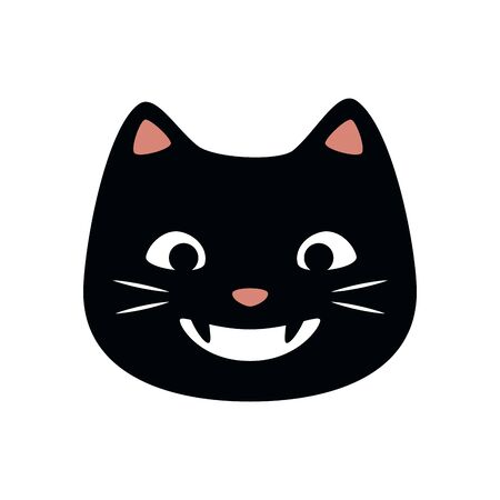 cat face of halloween isolated icon vector illustration design Ilustração