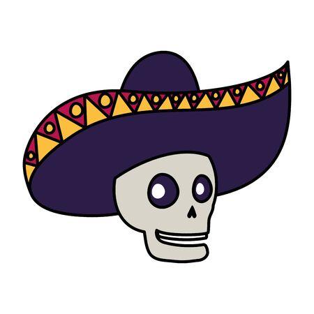 mariachi skull playing guitar comic character vector illustration design Фото со стока - 133651783