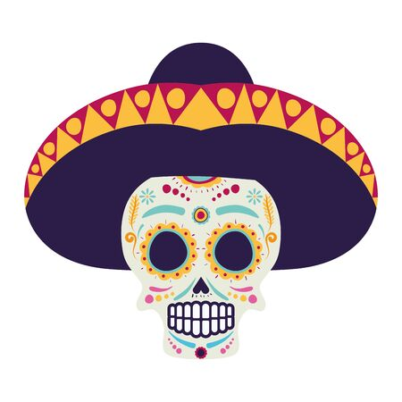 mariachi skull playing guitar comic character vector illustration design Фото со стока - 133651824