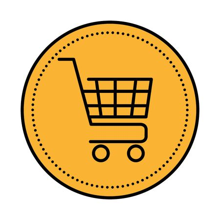 shopping cart commercial isolated icon vector illustration design Archivio Fotografico - 133681573