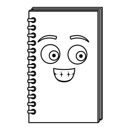 note book school comic character vector illustration design Illustration