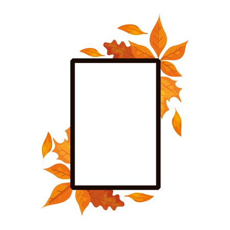 frame with autumn leafs decoration vector illustration design Reklamní fotografie - 133770826