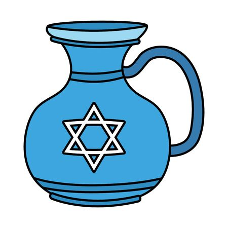 happy hanukkah teapot jar icon vector illustration design Ilustracja