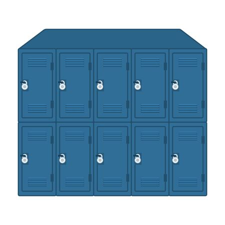 set of lockers school with padlocks vector illustration design 向量圖像