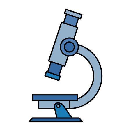 Microscopio de suministro de laboratorio icono aislado diseño ilustración vectorial