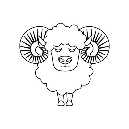cute lamb farm animal icon vector illustration design Ilustração