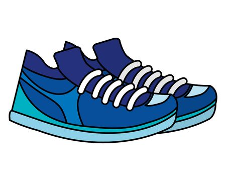 tennis sport shoes footwear accessory vector illustration design Фото со стока - 133835723