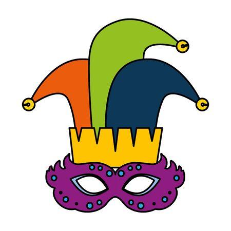 carnival mask with joker hat vector illustration design Reklamní fotografie - 133835806
