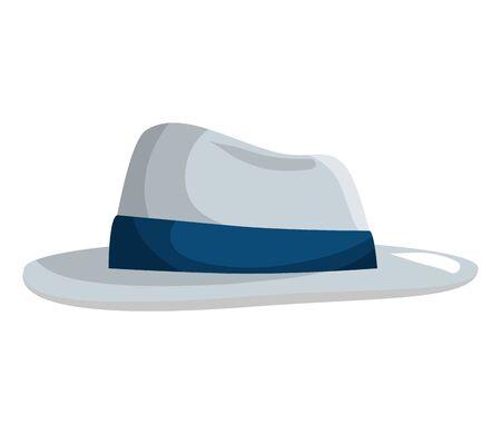 gentleman elegant hat accessory vector illustration design 向量圖像