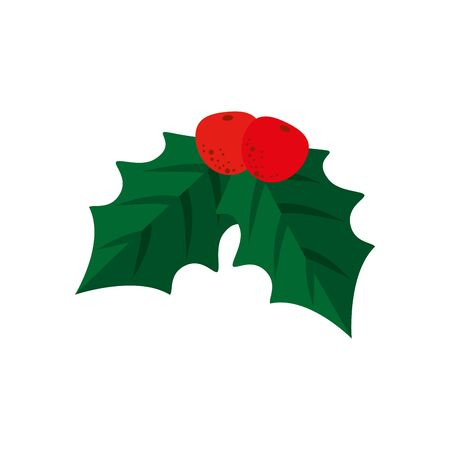 leafs nature decoration christmas isolated icon vector illustration design Banque d'images - 133837920