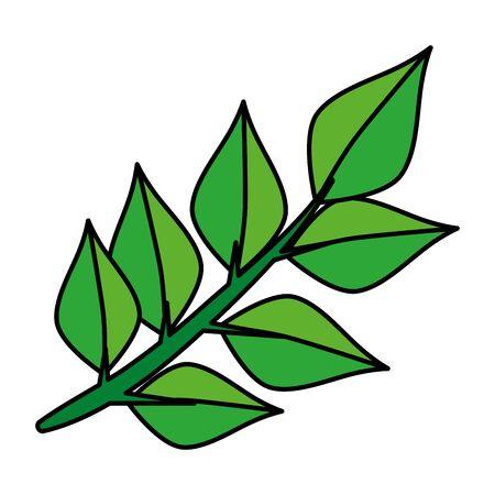 ecology leafs plant icon vector illustration design Banque d'images - 133838760
