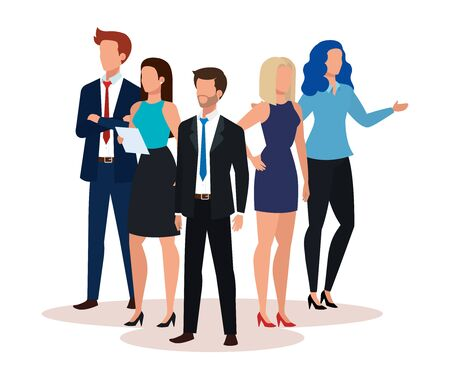 group of business people avatar character vector illustration design Banque d'images - 133839409