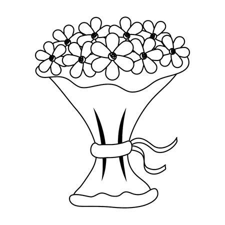 bouquet of flowers icon vector illustration design Banque d'images - 133839973