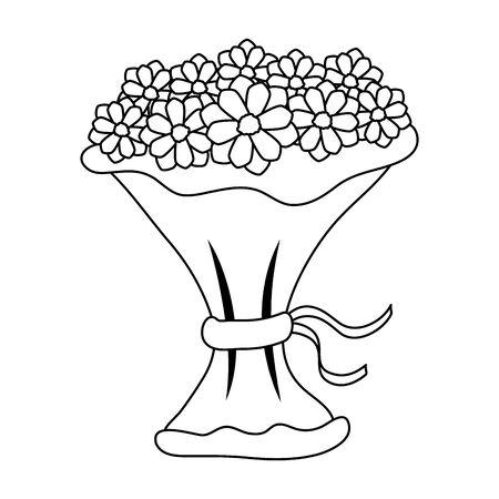 bouquet of flowers icon vector illustration design Banque d'images - 133840145