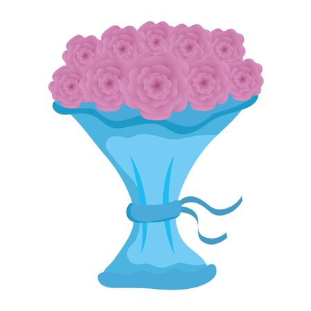 bouquet of roses icon vector illustration design Banque d'images - 133840210