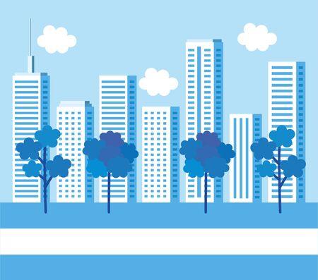 park with cityscape background vector illustration design Banque d'images - 133840264