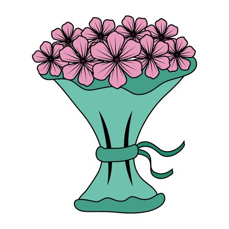 bouquet of flowers icon vector illustration design Ilustrace