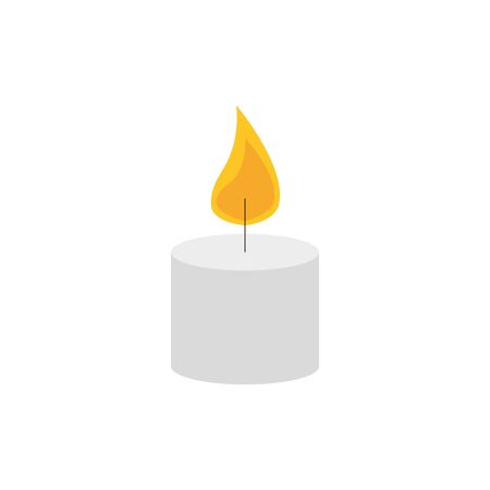 paraffin candle with flame icon vector illustration design Фото со стока - 133849591
