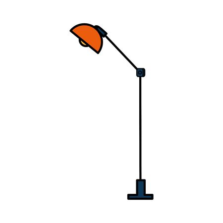 office lamp light isolated icon vector illustration design