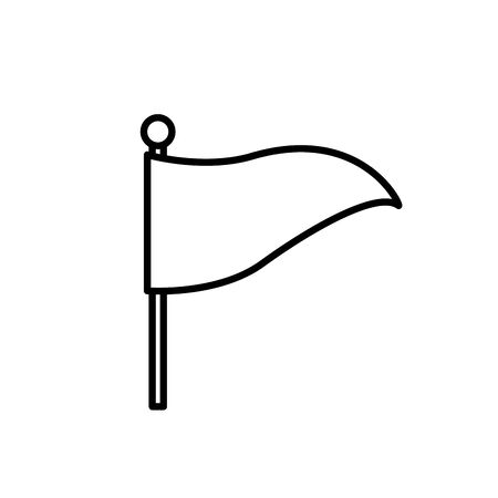 flag in stick isolated icon vector illustration design  イラスト・ベクター素材