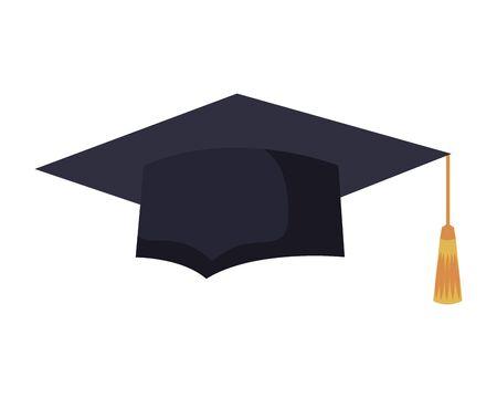 graduation hat uniform isolated icon vector illustration design