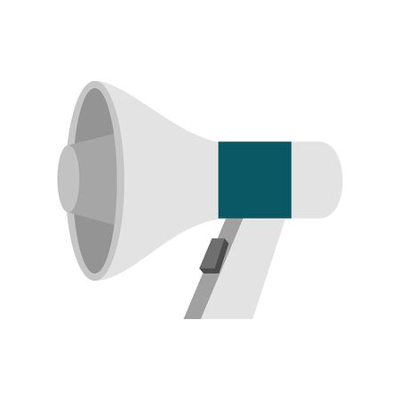 megaphone sound device isolated icon vector illustration design