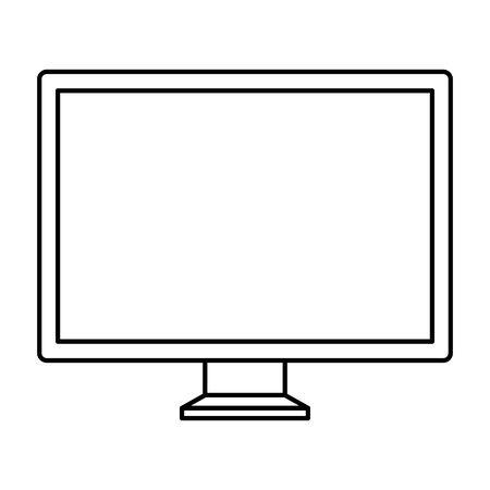 desktop computer monitor isolated icon vector illustration design Stock Vector - 133849757