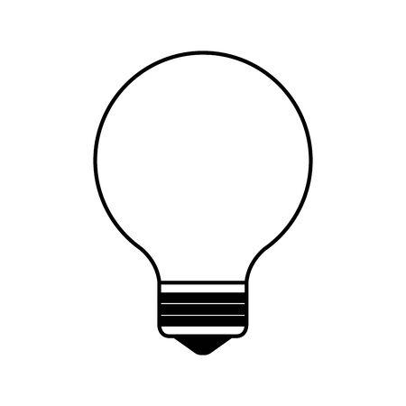 bulb light think idea icon vector illustration design 向量圖像