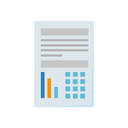 paper document financial isolated icon vector illustration design