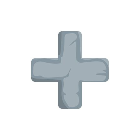 cross catholic religious isolated icon vector illustration design