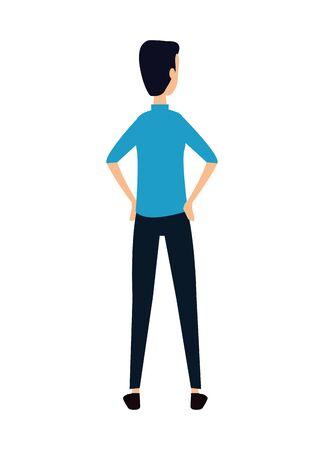 elegant young businessman avatar character vector illustration design