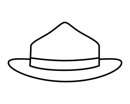 canadian ranger hat uniform icon vector illustration design
