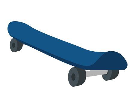 skateboard elemento sportivo icona illustrazione vettoriale design Vettoriali