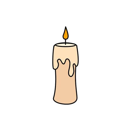 halloween candle decoration isolated icon vector illustration design