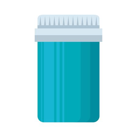 medical plastic bottle isolated icon vector illustration design