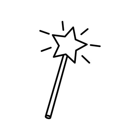 fairytale magic wand fantastic isolated icon vector illustration design