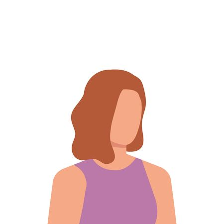 beautiful and young woman character vector illustration design Иллюстрация