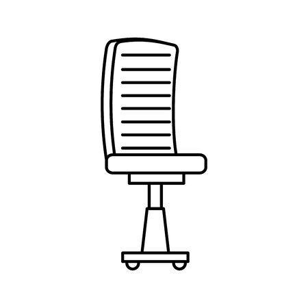 office chair equipment isolated icon vector illustration design Banque d'images - 133850347
