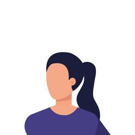 belle et jeune femme personnage vector illustration design Vecteurs
