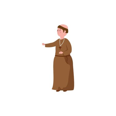 monk fantasy magic isolated icon vector illustration design