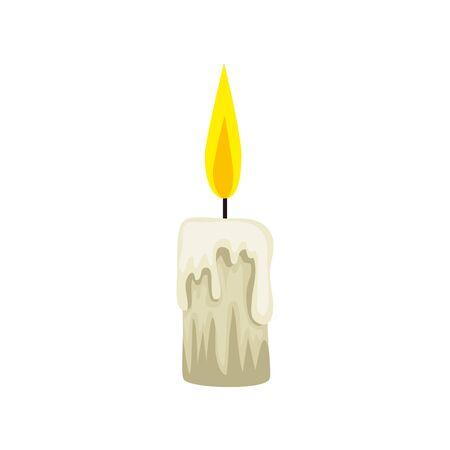 halloween candle decoration isolated icon vector illustration design Фото со стока - 133850428