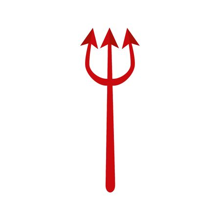 halloween devil trident isolated icon vector illustration design