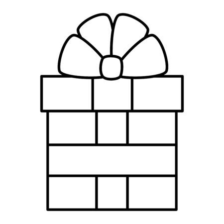 gift box present isolated icon vector illustration design Illusztráció