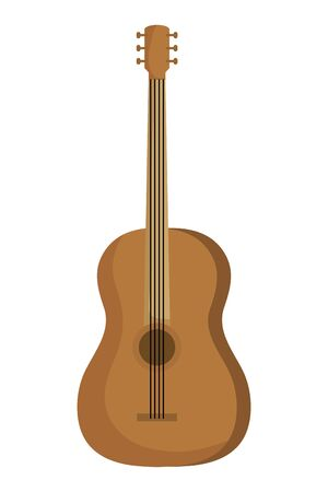 acoustic guitar musical instrument icon vector illustration design Stok Fotoğraf - 133850751