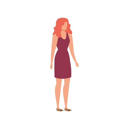 beautiful and young woman character vector illustration design Çizim