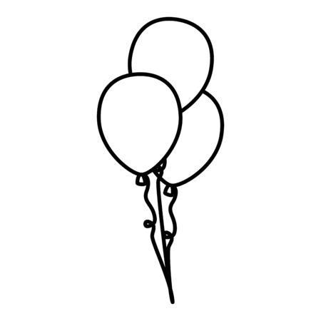 balloons helium floating icon vector illustration design Stok Fotoğraf - 133850756