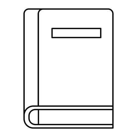 textbook school supply education icon vector illustration design