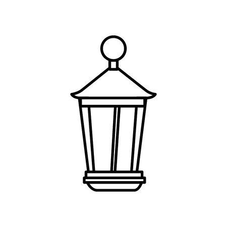 lantern light hanging isolated icon vector illustration design